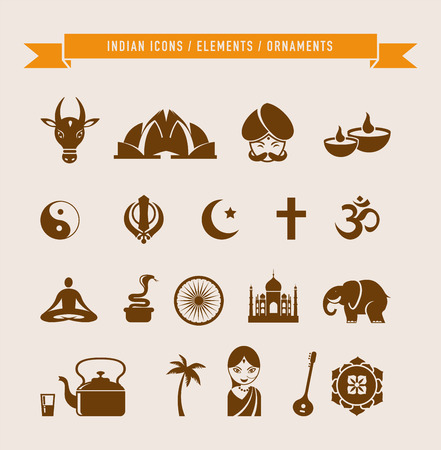 incredible: India - collection of icons and elements Illustration