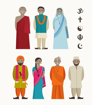 incredible: Indian people - different indian religious