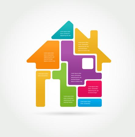 Home - infographics and icon set Imagens - 39862180