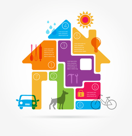 Home - infographics and icon set 일러스트