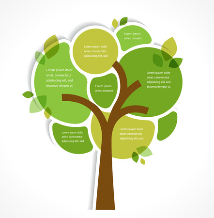 green tree: Green tree - background and infographics