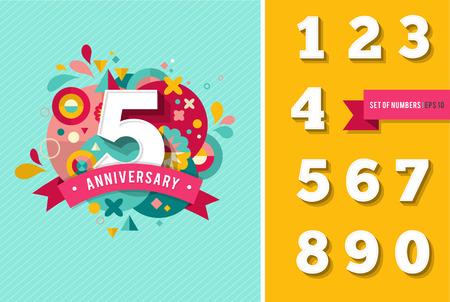 numero diez: aniversario - Fondo con conjunto de n�meros