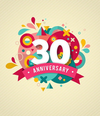 sign: anniversary - abstract background