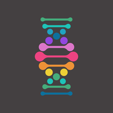 DNA, genetic element and icon