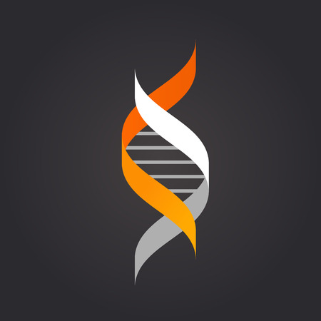 dna spiral: DNA, genetic element and icon