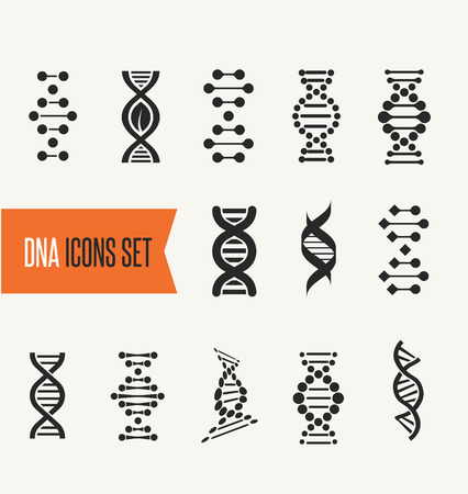 bio: DNA, genetic elements and icons collection