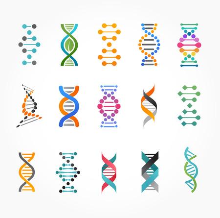 investigando: ADN, elementos e iconos gen�tica colecci�n