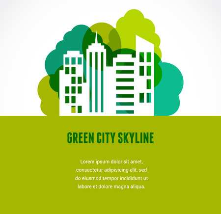 agent: Green city and skyline icon