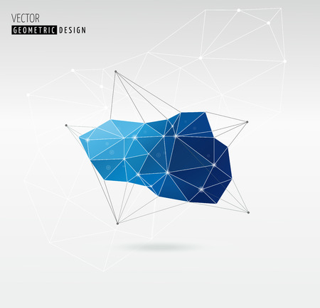 geometric shapes: Polygonal Geometric abstract, trendy background