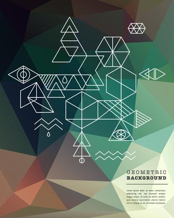 Sacred geometry. Alchemy, spirituality icons Ilustrace