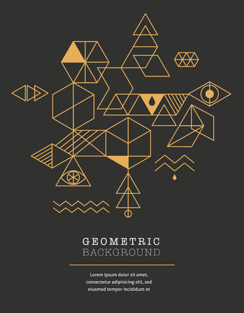mystery: Sacred geometry. Alchemy, spirituality icons Illustration