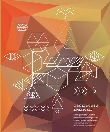 alchemy: Sacred geometry. Alchemy, spirituality icons Illustration