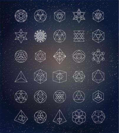 symbol: La geometria sacra. Alchemy, icone spiritualità