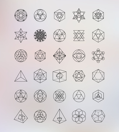 Sacred geometry. Alchemy, hipster symbols