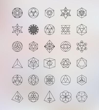 forme: La géométrie sacrée. Alchemy, symboles hipster