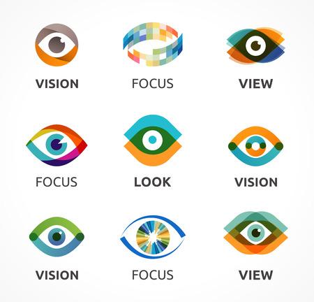 yeux: Ensemble d'icônes colorées oculaires