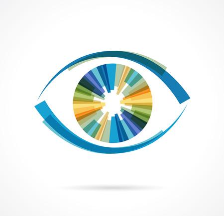 oči: Sada barevných očních ikon