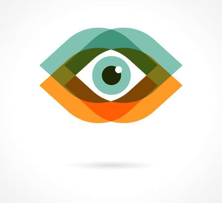 ojo humano: Conjunto de iconos de colores de ojos