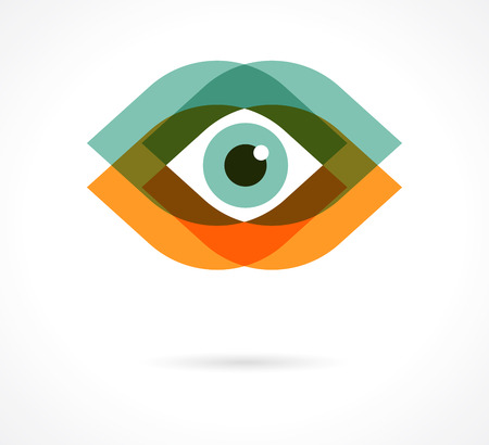 black eyes: Set of colorful eye icons