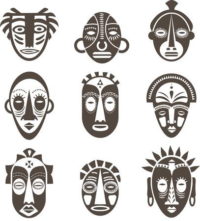 Relativ Vecteur Masque Afrique. Clip Art Libres De Droits , Vecteurs Et  YU94