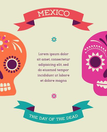 afdrukken - Mexicaanse suiker schedel, dag van de doden poster