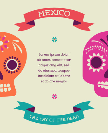 day of dead: print - mexican sugar skull, day of the dead poster
