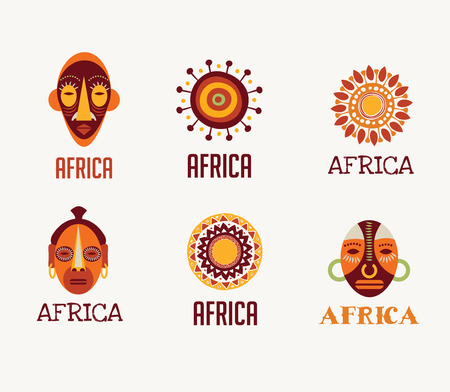 baobab: Africa and Safari elements and icons Illustration
