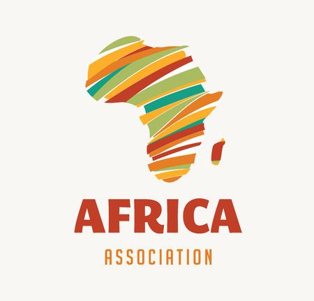 Afryka ilustracji mapie