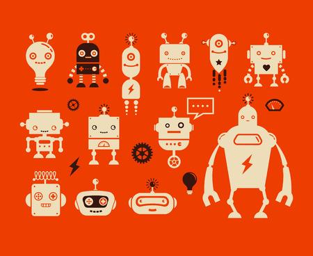 robot: Robot ikon i znaków słodkie