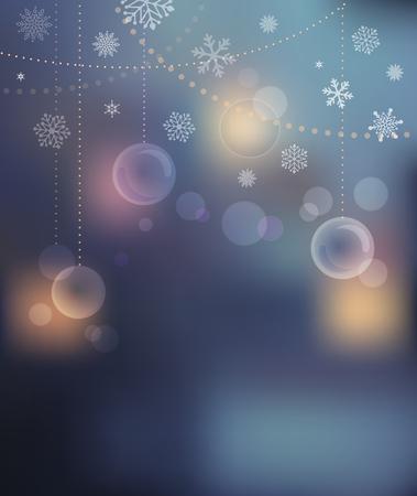 invitación a fiesta: Feliz Navidad de fondo con el bokeh luz Vectores