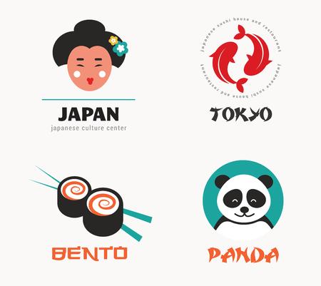 bento: Japanese food and sushi icons, menu design, elements
