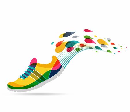 Kolorowe wektora Plakat - bieganie i sportu Ilustracje wektorowe
