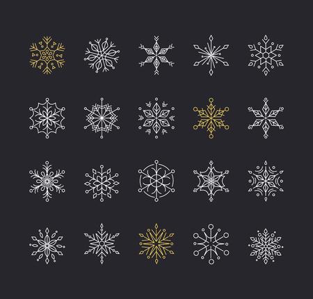 neige noel: Snowlakes, l'art de ligne géométrique décorations de Noël, modèle et le fond