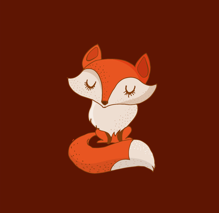 cute cards: Cute Fox illustration - greeting cards