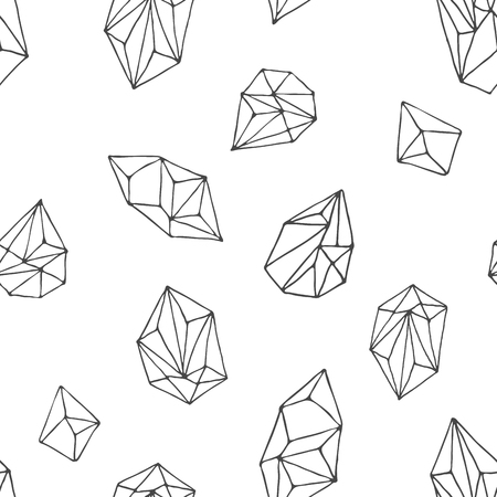 crystals: Crystals - seamless hand drawn modern pattern