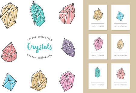 bohemian: Crystals - hand drawn modern, bohemian and hipster elements