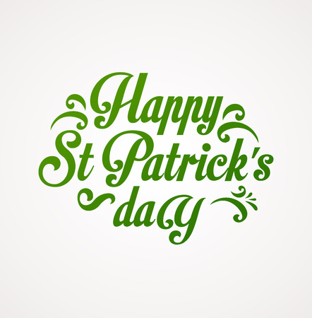 st  patrick day: St. Patrick Day poster, card and menu