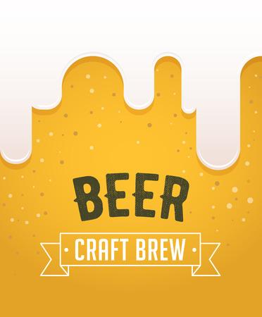 Fête de la bière dans la ville, la ville. Affiche de l'événement
