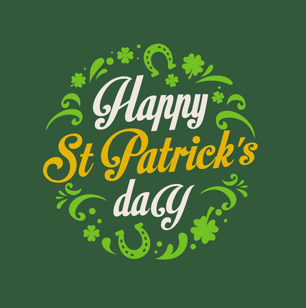 st: St.  Patrick Day poster, card and menu  Illustration