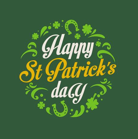 st patricks party: St.  Patrick Day poster, card and menu  Illustration