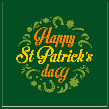 patricks: St.  Patrick Day poster, card and menu  Illustration