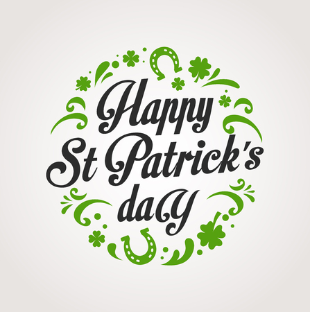 patrick day: St.  Patrick Day poster, card and menu Illustration