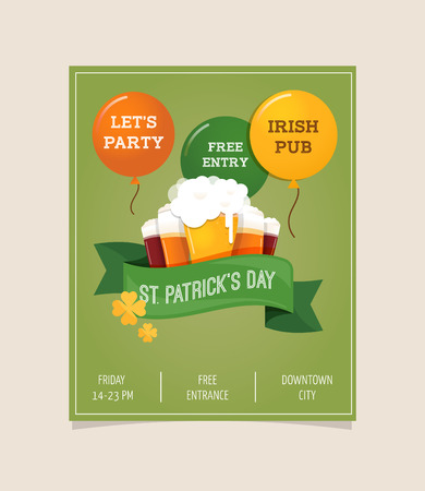 patrick day: St.  Patrick  Day poster, card and menu
