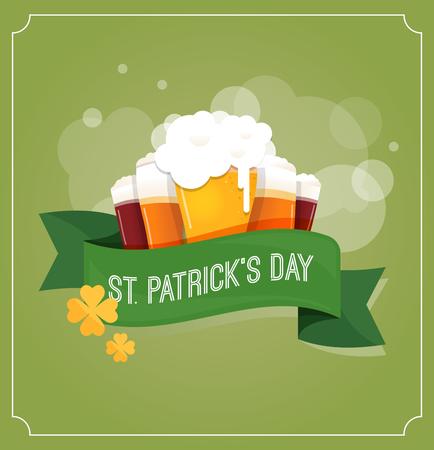 st patrick: St.  Patrick Day poster, card and menu Illustration