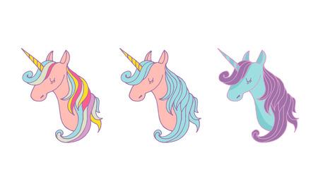 Set of magic unicons - cute hand drawn icons, illustrations Ilustrace
