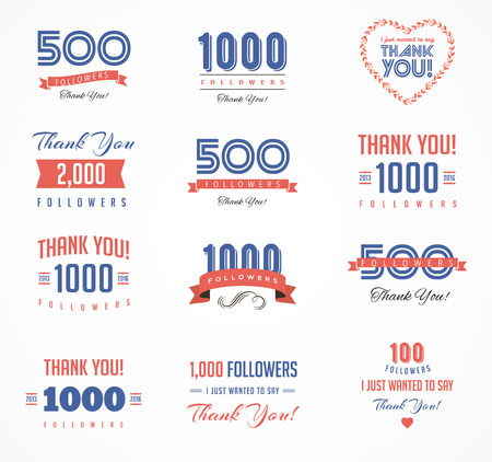 facebook: Thank you followers, badges, cards and labels