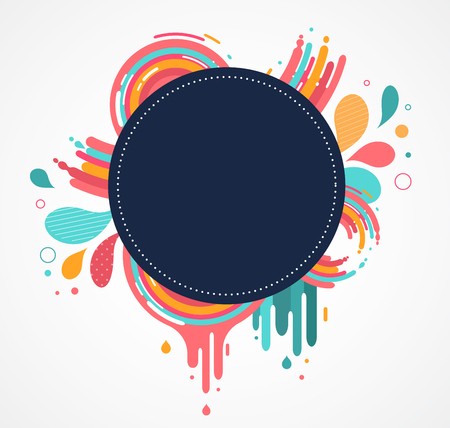 text space: abstract colorful background with text space and color splashes