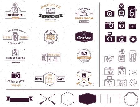 Le photographe et photo studio style signe, élément, icône et signatute