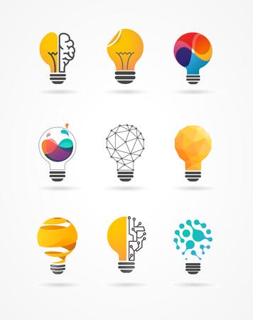 Light bulb - idea, creative, technology icons and elements Ilustrace