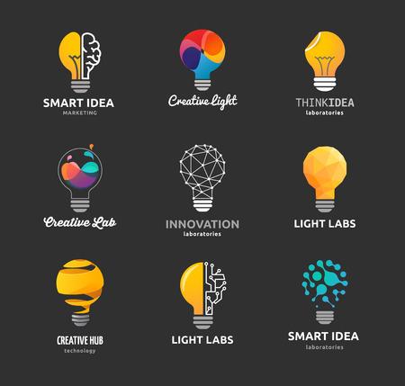 Light bulb - idea, creative, technology icons and elements Stock Illustratie